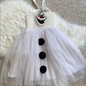 Disney frozen Olaf dress costume or dress up EUC